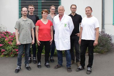 The colleagues of the electrochemistry team