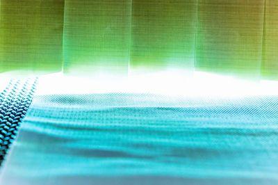 UVC-Behandlung von Polyestergewebe  (HgND Lampen - 185/254 nm)
