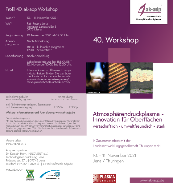 Aktueller Programmflyer 40. ak-adp Workshop