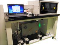 193 nm ArF-Laser (Frontansicht der Anlage) mit Rechnersteuerung und Arbeitskammer