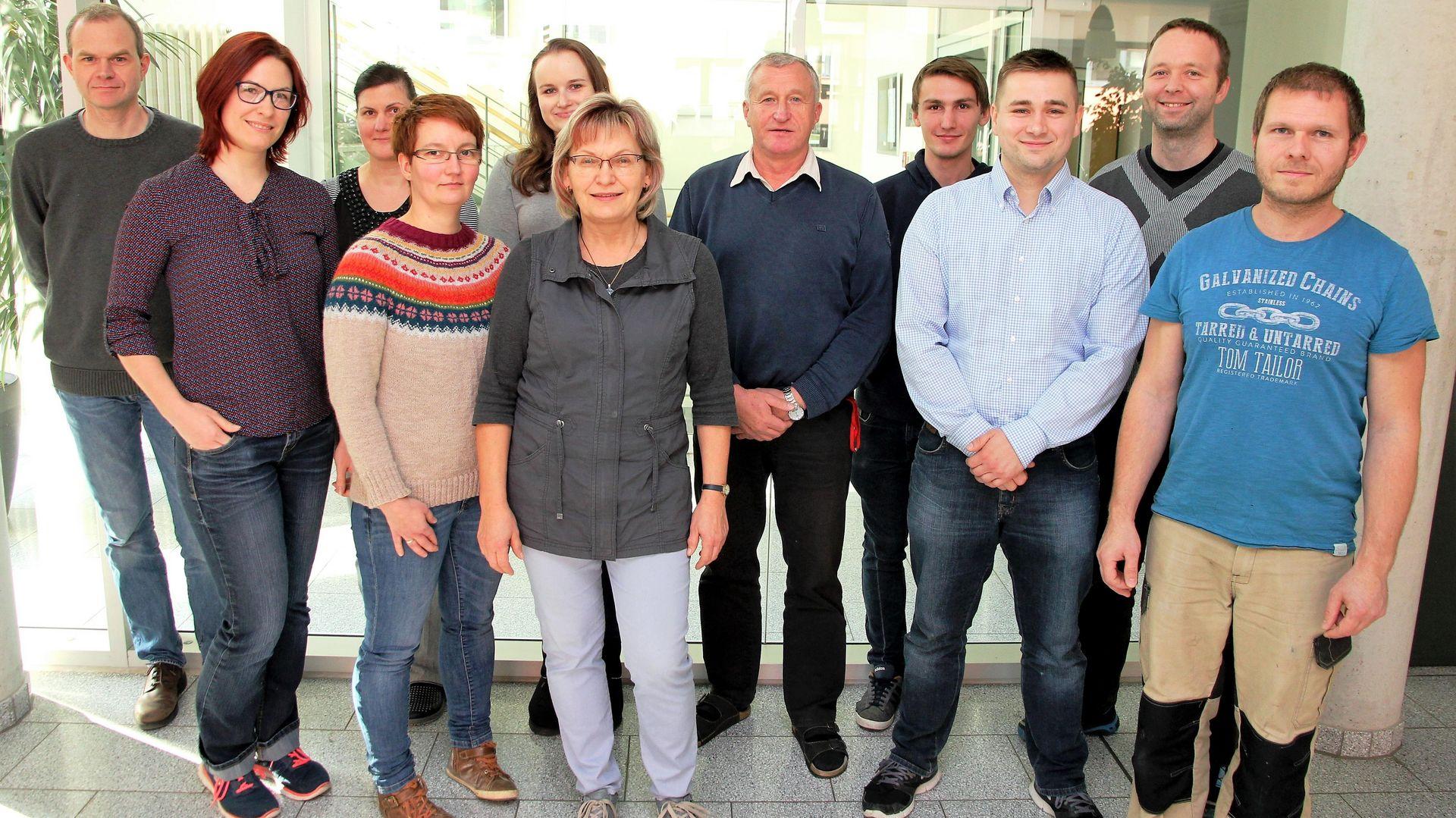 Gruppenbild der Kollegen in der Arbeitsgruppe Elektrochemie