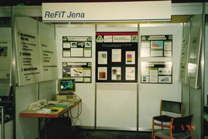 View of the INNOVENT booth at the Erfurt Technology Day 1994