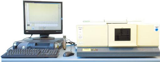 The picture shows the FT-IR workstation with the spectrometer FTS 175.