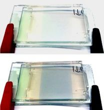 Elektrochromie: Elektrochrom schaltende Zelle mit flammenpyrolytisch abgeschiedenem Wolframoxid