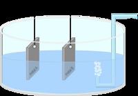 Eine Prinzipskizze zur Messanordnung für den Korrosionsstrom ist illustriert.