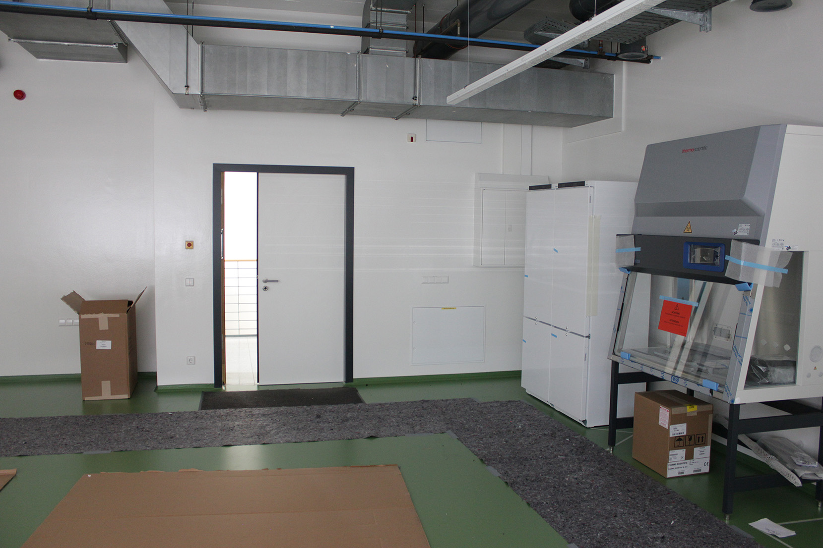 A look at the INNOVENT bio laboratory which is currently under construction